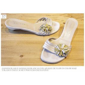 Zapato Zapatos Sandalia Mujer Chatita Blaqué Feria Americana