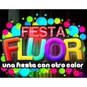 Cotillón Pintura Fiestas Fluor Con Prestamo Luces Sin Costo