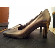 Zapatos Clasicos Color Peltre N°38.