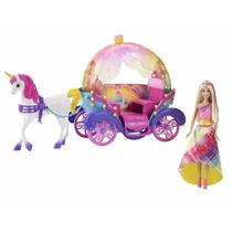 Boneca Barbie Fantasia Carruagem Com Princesa Mattel Dpy38