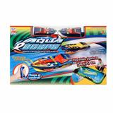 2 Mini Lanchas De Corrida Controle Remoto Racer + Pista