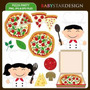 Kit Imprimible Pizza Party Imagenes Clipart Cod 2