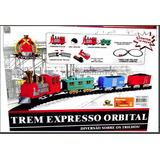 Trem Ferrorama Trenzinho Locomotiva Eletrico 19 Peças