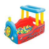 Pelotero Inflable Tren Interactivo Para Niño/a Bestway