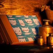 Cuaderno Cosido A6 Apaisado  Gato Que Pes