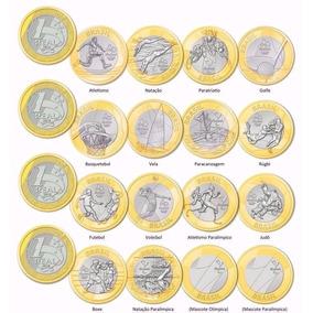 Coleção Completa Com 16 Moedas 1 Real Das Olimpíadas Fc!