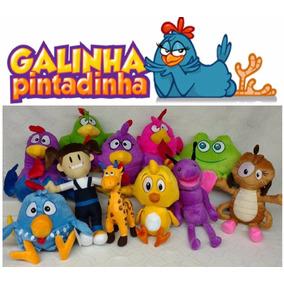 Kit Com 7 Pelúcias Da Turma Da Galinha Pintadinha