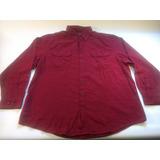 Camisa De Algodon Americana Faded Glory Bordó Talle Xxl