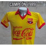 Camiseta Retro Barcelona Ecuador 1989 Campeón Vintage