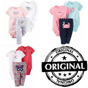 Lote Conjunto Infantil Bebe Inverno Carters 9 Pçs Menina 6m