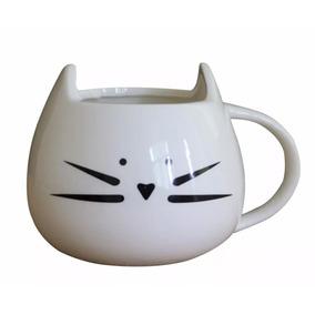 Taza Cerámica Gato Negro Ó Blanco (envío Gratis) - Animall