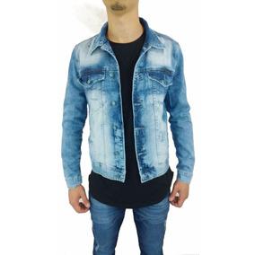 Blusa Jaqueta Jeans Rasgado Destoyed Slim Masculina