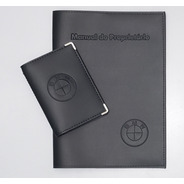 Kit Porta Manual E Porta Documento Couro Eco C Bmw