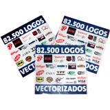 82.500 Logotipos Vectorizados Serigrafía Diseño Vector
