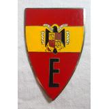 Escudo Placa Carro Emblema Esmaltada Original Letra E N°38