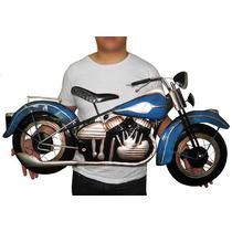 Quadro 2d Moto Harley Davidson Para Parede Metal Vintage