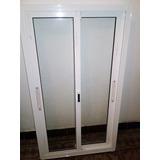 Ventana Aluminio (blanco) 2 Hojas Corredizas Vidrio Simple