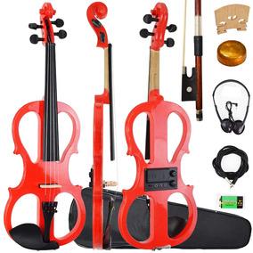 Violino Elétrico 4/4 Vermelho Sverve Ronsani Com Estojo