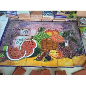 Mural De Talavera Artesanal - Frutas