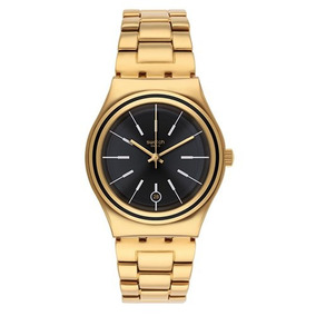 Swatch Womens Irony Ylg405g Gold Stainless-steel Quartz Watc