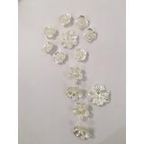 Perlas En Forma De Flor Para Pegar X 50. A Elección. Oferta!