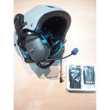 Casco Paramotor Intercom Auriculares P/cualquier Handy