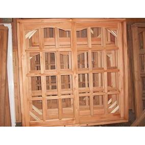 Ventana Vidrio Repartido 150x150 Madera Aberturas Ventanas En