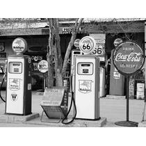 Lamina Con Surtidores De Gasolina Y Coca Cola, Route 66