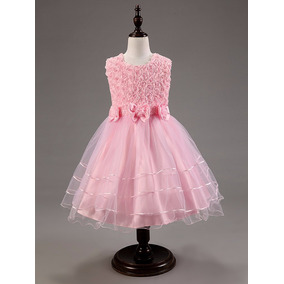 Vestido Princesa Daminha Aniversario Pronta Entrega