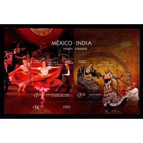 Mexico Sc 2726 Hoja Souvenir México Indía Bailes Y Trajes
