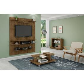 Conjunto Painel Tv, Mesa De Centro E Aparador Sala Rústico