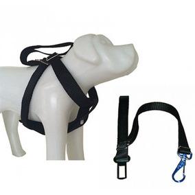 Peitoral + Adaptador Com Fivela Para Cinto De Segurança Cães