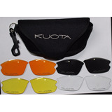 Kit Quatro Lentes P/ Óculos Kuota + Case