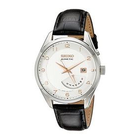 Hombres Seiko Kinetic Srn049 Reloj De Acero Inoxidable