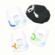 Nov Kit 3 Máscaras Baño De Crema Argan Kg + 1 Gorrotérmico