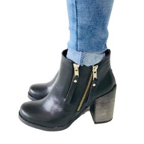 Botas Plataforma Texana Charrito Zapato Mujer Cuero Hot Sale