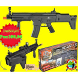 Rifle Airsoft Scar-l Spring Black Airsoft Springer