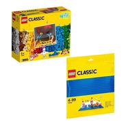 Kit Lego Classic Peças E Luzes + Placa Base