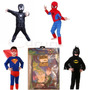 Disfraz De Hombre Araña Rojo Negro Batman Ben 10 Superman