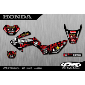Grafica Honda Tornado Xr250 Kit Calcos Calidad Competición