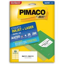 Etiqueta A4 A4250 25 Fls 55,8 X 99,0 Mm Pimaco C/250