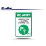 Placa De Sinalização Poli 30x20 Meio Ambiente Alta Tensão