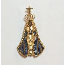 Pingente Nossa Senhora Aparecida De Ouro 18k 26 Safiras