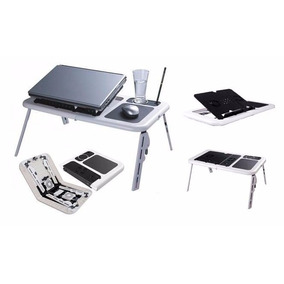 Mesa Cooler Plegable Para Notebook Base Mouse Pad Apoya Vaso