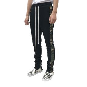 Calça Track Pants Moleton Fitness Masculina Camuflada Sarja