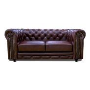 Love Seat Piel  - Chesterfield  185 - Conforto Contado