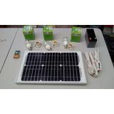 Panel Solar Incluye Batería 3 Sockets 3 Focos Inveror