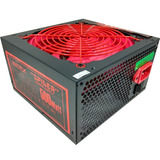 Fuente Gamer Atx 500w Reales Intex Spider It-23fr - Lidertek