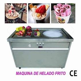 Máquina Comercial Con Plancha Para Helado Frito Y En Rollo