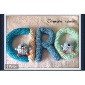 Cartel Bienvenida Nombre Tejido Guirnalda Nacimiento Baby